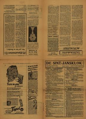 De Sint-Jansklok, Staden, 7 juni 1952