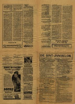 De Sint-Jansklok, Staden 4 oktober 1952