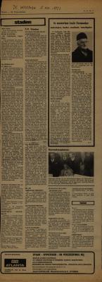 De Weekbode, 2 november 1973