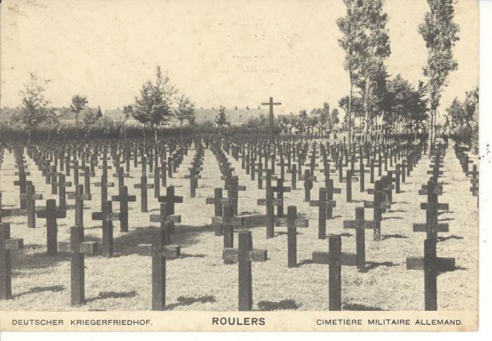 Postkaart Duits kerkhof (4)