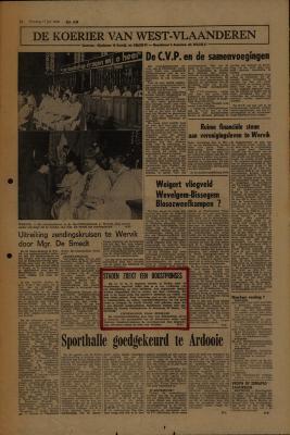 De Koerier van West-Vlaanderen, 17 juli 1973