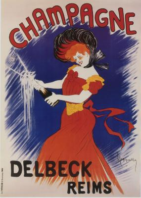 Affiche reclame voor Champagne Delbeck
