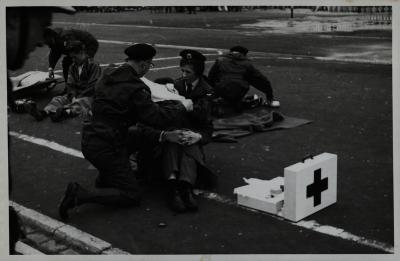 Brandweeroefening te Koksijde, 1962