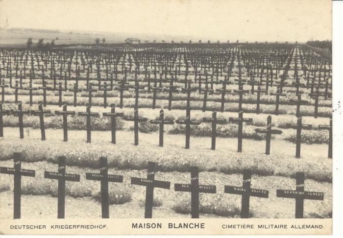 Postkaart Duits kerkhof (2)