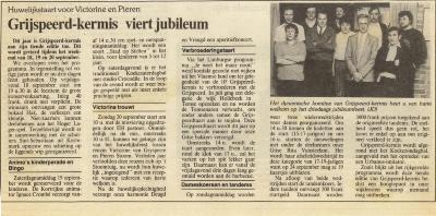 Grijspeerdkermis, Gits, 1985-1986-1987