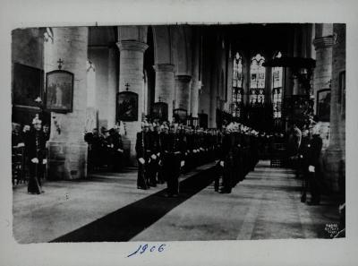 Sint-Barbara feesten in Sint-Michielskerk, 1906