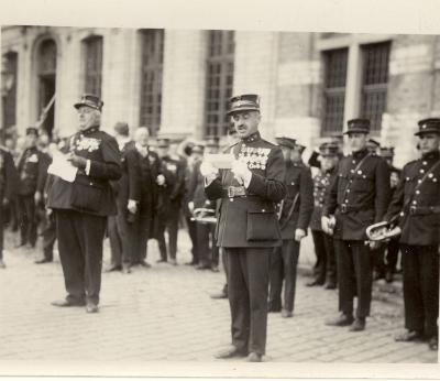 Brandweerhuldiging (?), Roeselare, 1931