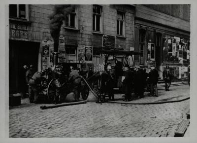 Brandweeroefening, 1920?