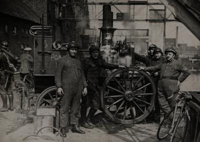 Brandweeroefening, 1936?