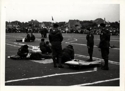 Demonstratie, Koksijde, 1962
