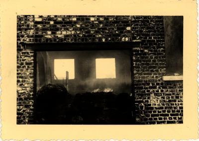 Brand vlasfabriek, Rumbeke, 1948