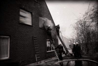 Brand in Oude Molenweg, Moorslede april 1978