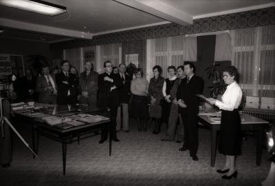Davidsfonds Moorslede: tentoonstelling 'Moorslede Vroeger en Nu', Moorslede februari 1978