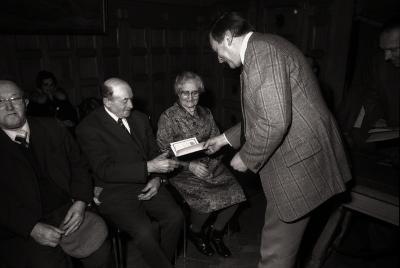Gouden huwelijksjubileum familie Wyffels: feestzitting in gemeentehuis, Moorslede februari 1978
