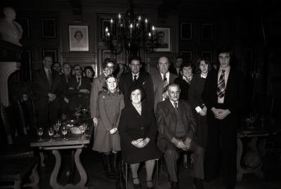 Gouden echtpaar ontvangen in het gemeentehuis, Moorslede november 1977
