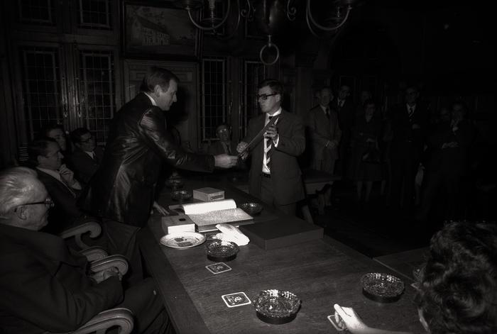 Ontvangst BGJG (nu gezinsbond) op gemeentehuis, Moorslede oktober 1977