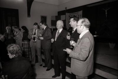 Receptie Davidsfonds in klooster, Moorslede oktober 1977