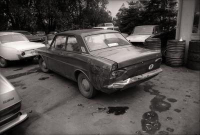 Wagens garage Plancke, Roeselare (?) juni 1977