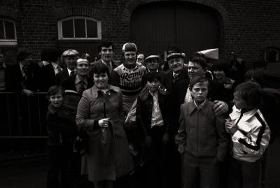 Wielerwedstrijd in wijk Waterdam, Moorslede mei 1977