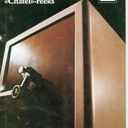 Oude informatiebrochure Fichet-Bauche brandkasten voorbeeld 1, firma Gasquet, Izegem