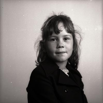 Ann poseert, Moorslede oktober 1974