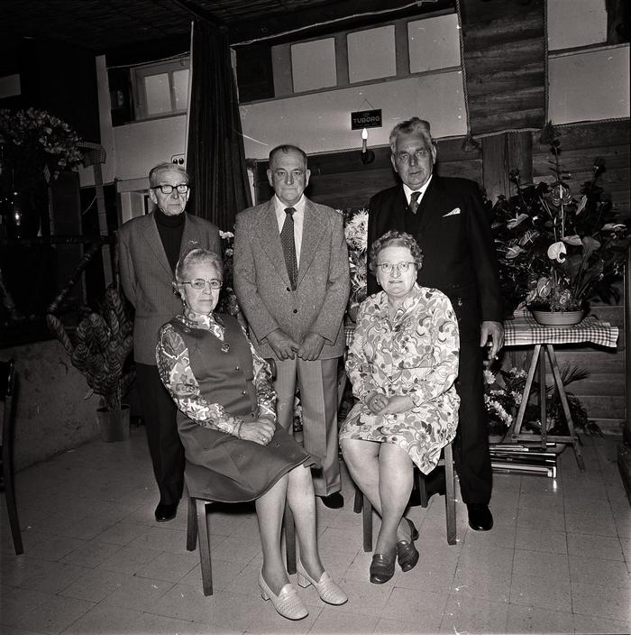 25 jaar huwelijk: 'Meetje en Daniel' in zaal Rembrandt, Moorslede juni 1974