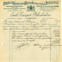 Oude facturen firma Gasquet, Izegem