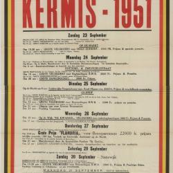 Kermisaffiche, Lichtervelde, 1951