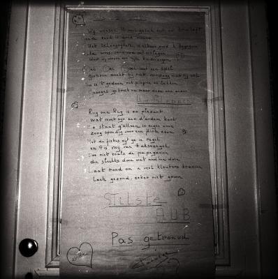 'Versierd' huis bij pas gehuwden, Moorslede augustus 1973
