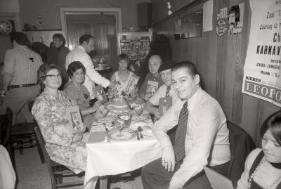 Jaarlijks feest voetbalploeg The Jumbo's, Moorslede februari 1977