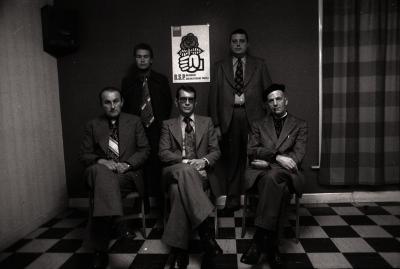 Groepsfoto van B.S.P. (Belgische Socialistische Partij), Staden december 1976
