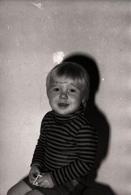 Bart Bruneel poseert, Moorslede 1976
