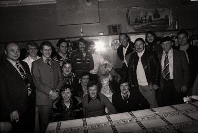 Sinterklaasfeest in café Bossa Nova, Moorslede 1976