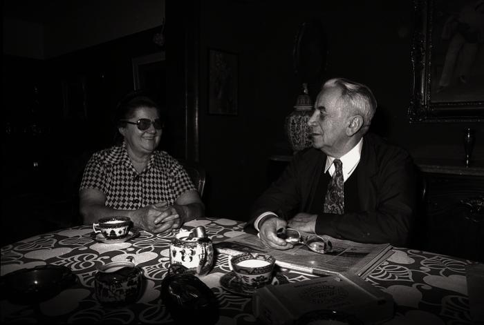 Burgemeester Vandamme en echtgenote, Westrozebeke 1976