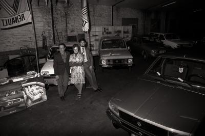 Tentoonstelling auto's garage Vandermeersch, Moorslede 1976