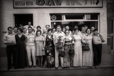 Viering biljartkampioen café Bossa Nova, Moorslede 1976
