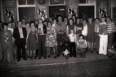 Viering biljartkampioen 't Hertje, Moorslede 1976