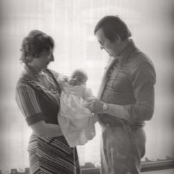 Jerry en Christina Steelandt poseren, Moorslede 1976