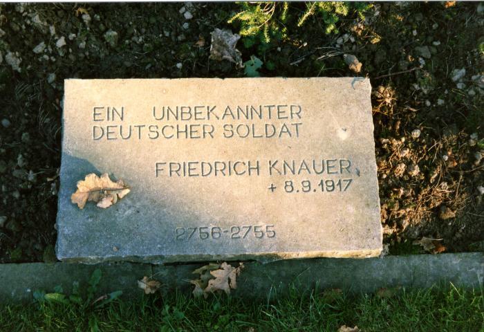 Grafsteen van Duitse soldaat