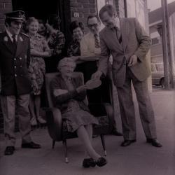 Flavie Vandoorne wordt gehuldigd, Moorslede 1976