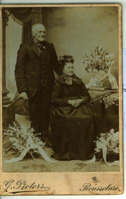 Huwelijksjubileum, Oostnieuwkerke, 1912