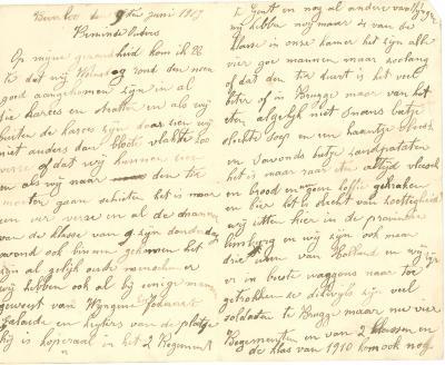 Jules Verhoye, brief 9 juni 1913