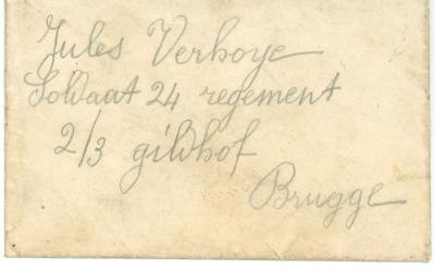 Jules Verhoye, naamkaartje