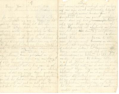 Jules Verhoye, brief 1 augustus 1913