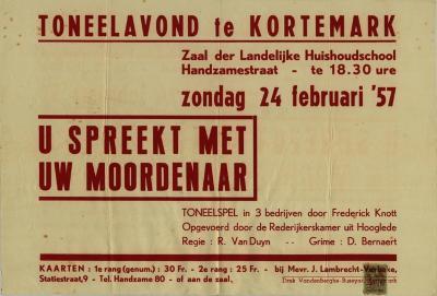 Toneelaffiche 1957