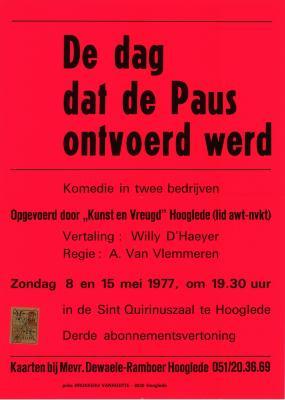 Toneelaffiches 1977