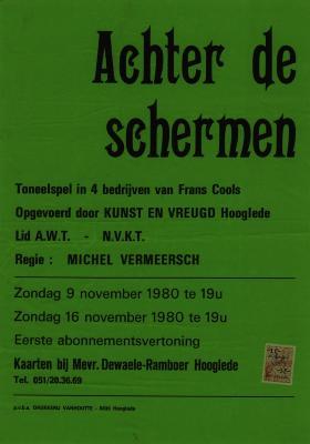 Toneelaffiche 1980