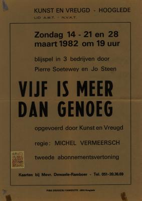Toneelaffiche 1982