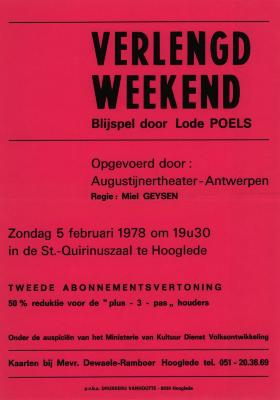 Toneelaffiches 1978