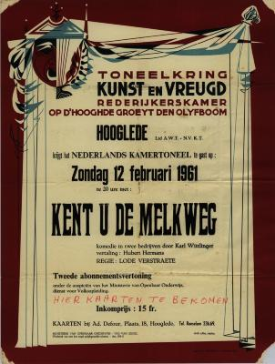Toneelaffiches 1961